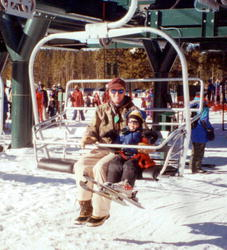 Taking the lift at White Pine